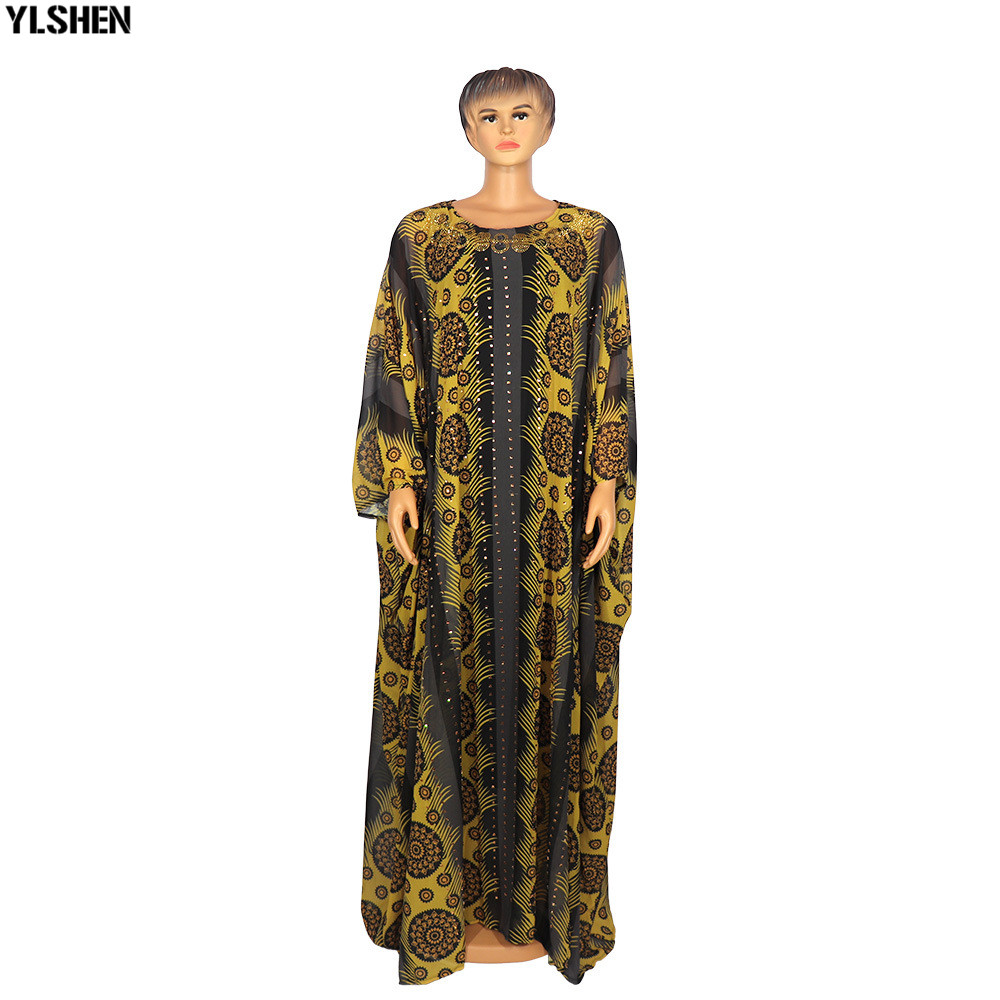 2 Piece Set African Print Dresses For Women Dashiki Long Maxi Dress Plus Size Clothing Traditional African Clothes Fairy Dress 02