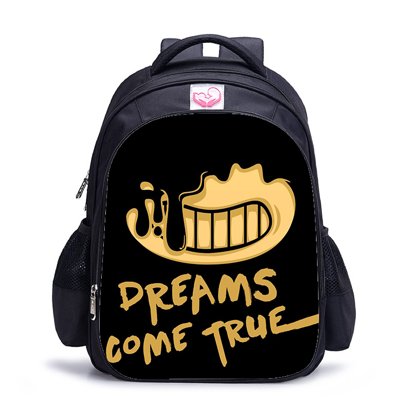 16 Inch Bendy And The Ink Machine Backpack For Children School Bags Cartoon Game Book Backpack Daily School Backpack Gift