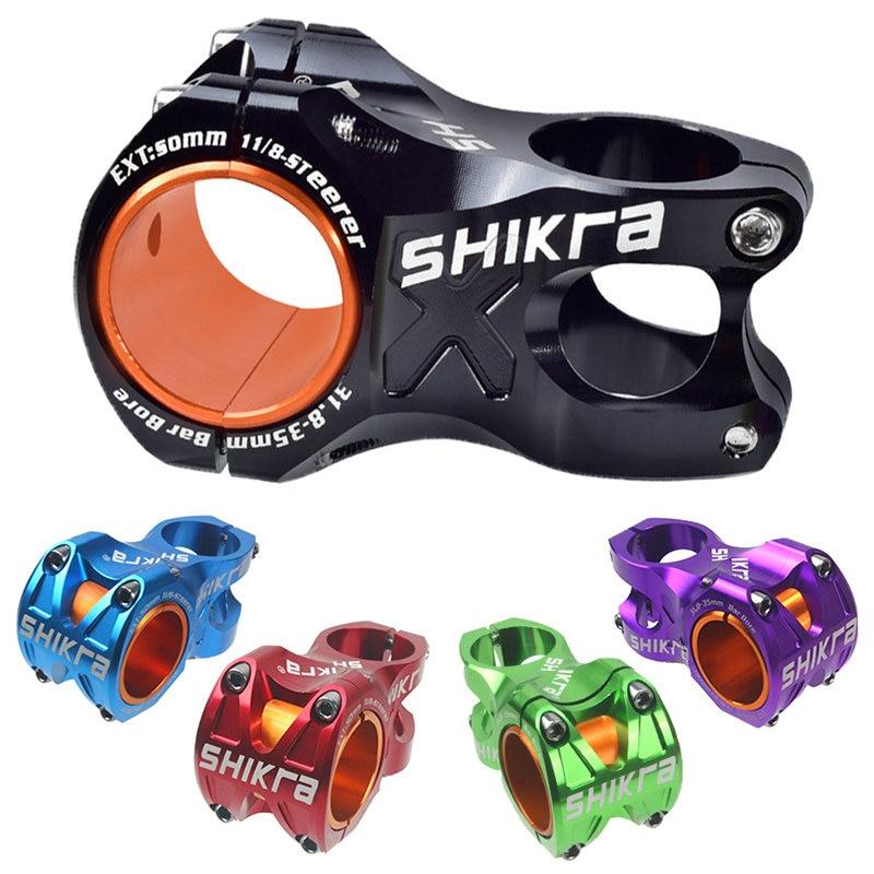 Велосипедный стержень SHIKRA, горный шоссейный велосипед, стержень руля 35 мм 31,8 мм, стержень руля 50 мм, велосипедный подъемник MTB AM XC DH, стержень