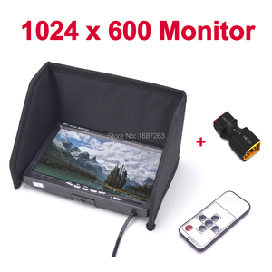 """FPV 7 inch 7"""" Monitor LCD TFT 1024 x 600 Monitor IPS Screen No blue FPV Display Photography Sunshade Hood for Ground Station(China)"""