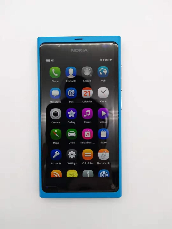 Фото. 100% Оригинальные Nokia n9 N9-00 gps Wi Fi 3G gsm 8 Мп камера 16 ГБ Встроенная память ГБ 1 оперативн