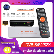 GTMedia V7S S2X HD satellite receiver 1080P HD DVB-S2 upgraded by GT Media V7S contains USB decoder WiFi H.265 without aplikac
