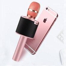 Горячая Sales-L666 красочные огни Dazzle беспроводной Bluetooth микрофон сценическая лампа мобильный телефон ручной микрофон K Son