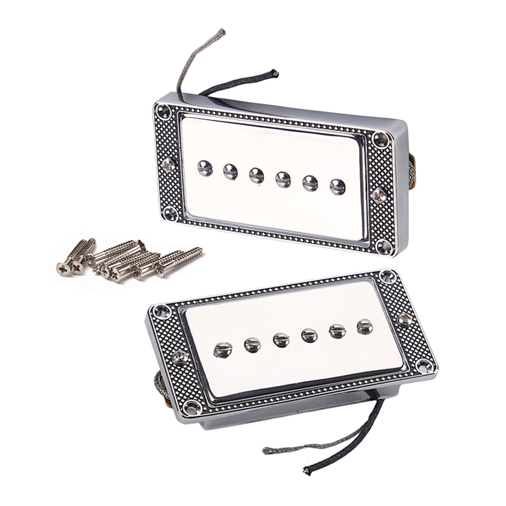 Single Coil Pickup Bridge Neck Set For Electric Guitar With Mounting Screws