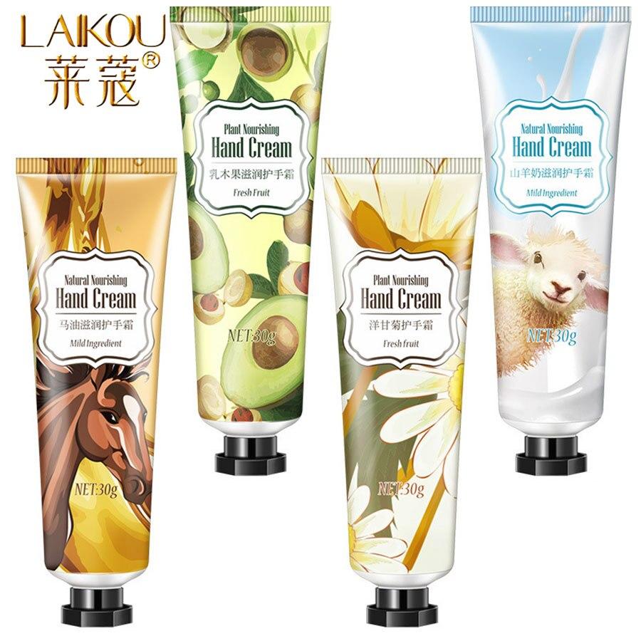 LAIKOU Brand 30ml Hand Cream Set Moisturizing Hydra Moisturizing Hand Care For Men Womem Whitening Moisturizing Hand Cream Set