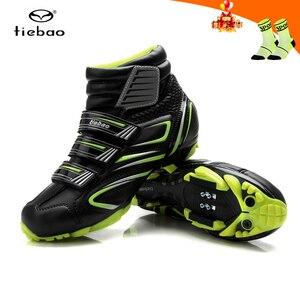 Tiebao sapatilha ciclismo mtb Cycling Shoes Winter Men sneakers Women MTB bicicleta mountain bike Shoes Warm Bicycle Shoes(China)