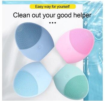 Силиконовая Очищающая щетка для лица, очищающее средство для лица, очиститель пор, отшелушивающая моющая щетка, уход за кожей, массаж, глубокое мытье, Массажная щетка