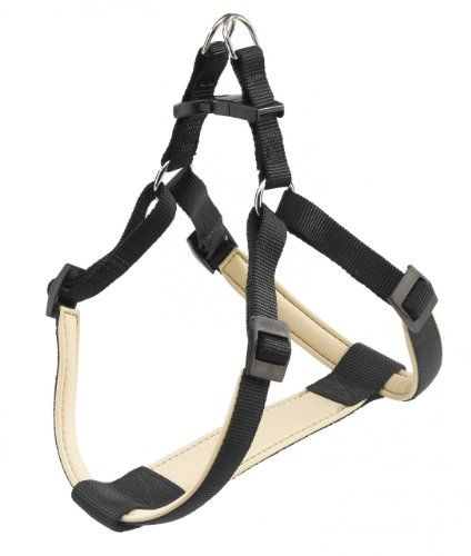 Ferplast Daytona Padded Dog Harness, Black, Medium