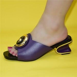 Image 4 - Mode Frauen Mitte Absätzen mit Flach Mund Quadratischen Kopf Schuhe Damen Hausschuhe Sexy Frau Schuh Sandalen 2021 Sexy Plattform pumpen