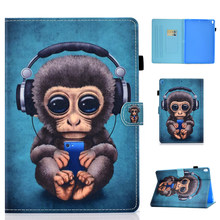 Funda para iPad Pro 10,5 Funda para Apple iPad Air 3 10,5 pulgadas 2019 PU cuero soporte imán Smart cáscara Funda patrón de dibujos animados(China)