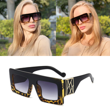 2020 DPZ Oversized Square Sunglasses Women's Vintage Big Frame Luxury Brand Desi
