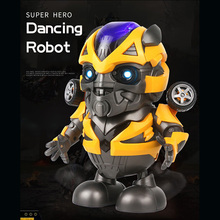 So Cute 20CM Smart Space Dance Robot Electronic Walking model Toys With Music Le