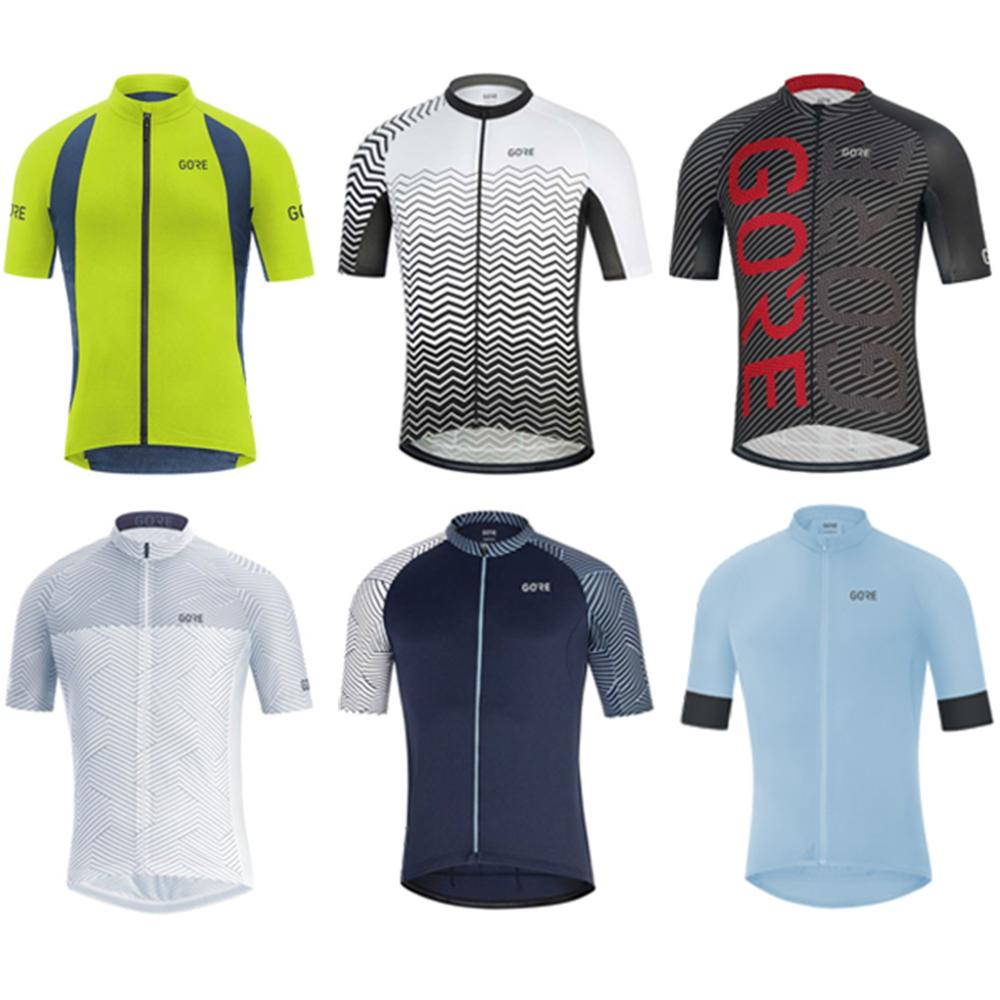 Gore Cycling Jersey Men Team Cycling Clothes Breathable Bike Uniform Bicycle Wear Short Sleeve Road Bike Clothing Maillot Shirt