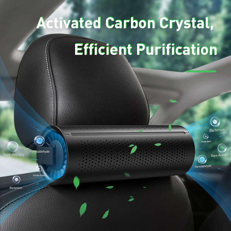BASEUS Car Air Purifier with and Negative Ion Generator and Activated Carbon Filter for Fresh Air