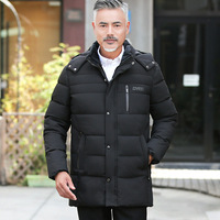 Winter parka male coats 2019 thick warm Middle aged Men's Clothing hooded jacket outwear coat warm top coat