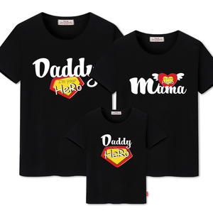 Image 4 - family matching clothes Mother daughter dresses outfits cotton casual T shirts family Look cotton mother father son clothing