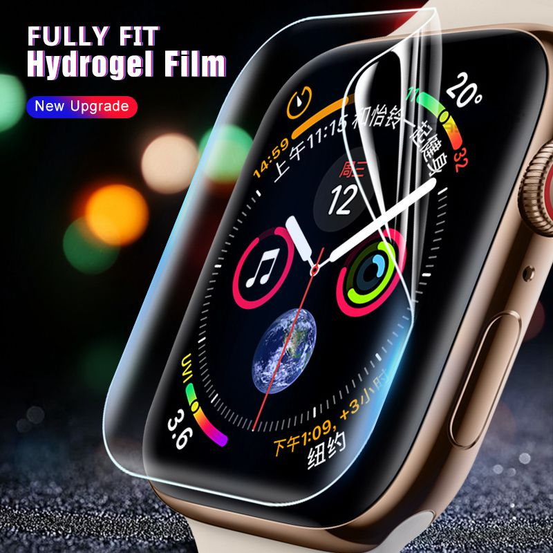 Hydrogel Film For Apple Watch 5 44mm 40mm Soft Full Screen Protector Tempered Film Curved Cover For Iwatch 5 4 3 2 1 42mm 38mm