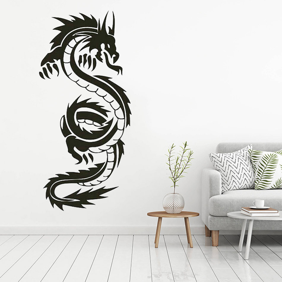 High Quality Chinese Dragon Wall Mural Living Room Home Decoration Vinyl Art Removable Sticker  LW181