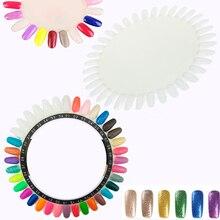 лучшая цена 36 Colors Round Nail Polish Gel Color Palette Chart Display Art Tip Large Size
