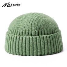 Bonnet unisexe en coton pour homme et femme, bonnet en tricot doux et chaud, idéal pour l'automne et l'hiver