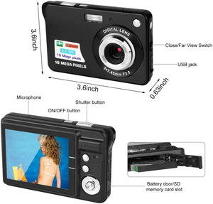 Image 2 - אמיתי Komery מקורי k9 מצלמה 3.5 inch LCD 1800 w פיקסל 4X דיגיטלי זום זמן לשגות צילום מצלמות וידאו שלוש  שנה אחריות