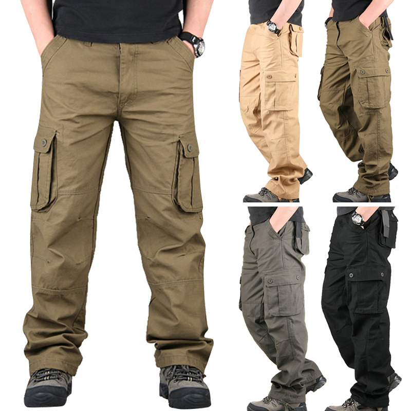 Men Outdoor Pants Three-dimensional Pockets Multi-functional Casual Pants Autumn Trousers Outdoor Multi-pocket Men Pants FEA889
