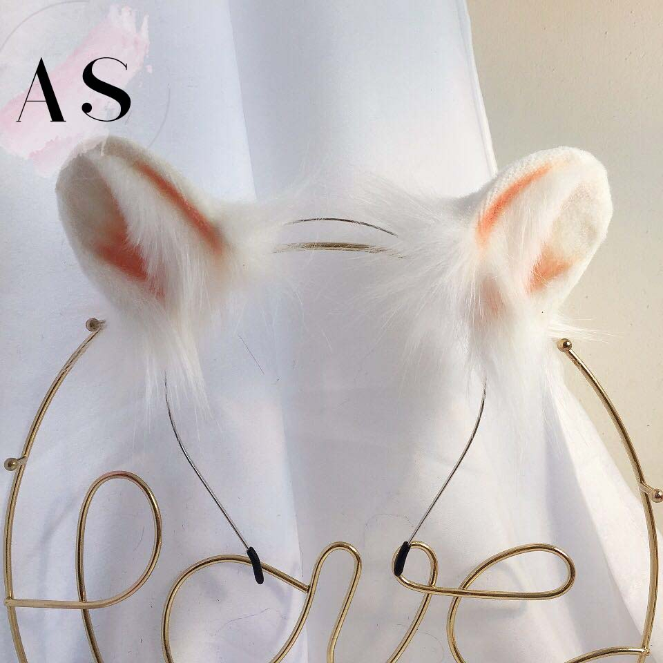 New White Mouse Animal Ears