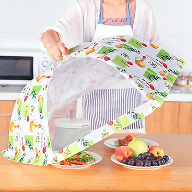 Table Foldable Food Umbrella Cover Picnic Barbecue Party Fly Mosquito Mesh Net Tent Kitchen Food Cover