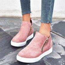 Women Ankle Boots Vulcanize Shoes Ladies Sneakers Basket Femme Casual Shoes Teni