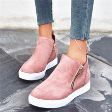 Women Ankle Boots Vulcanize Shoes Ladies Sneakers Basket Fem