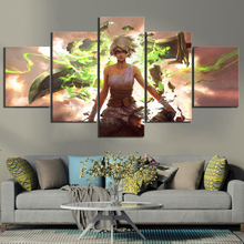5 Piece Illustration Paintings Riven League of Legends Game Poster Artwork Canvas Paintings for Living Room Wall Decor
