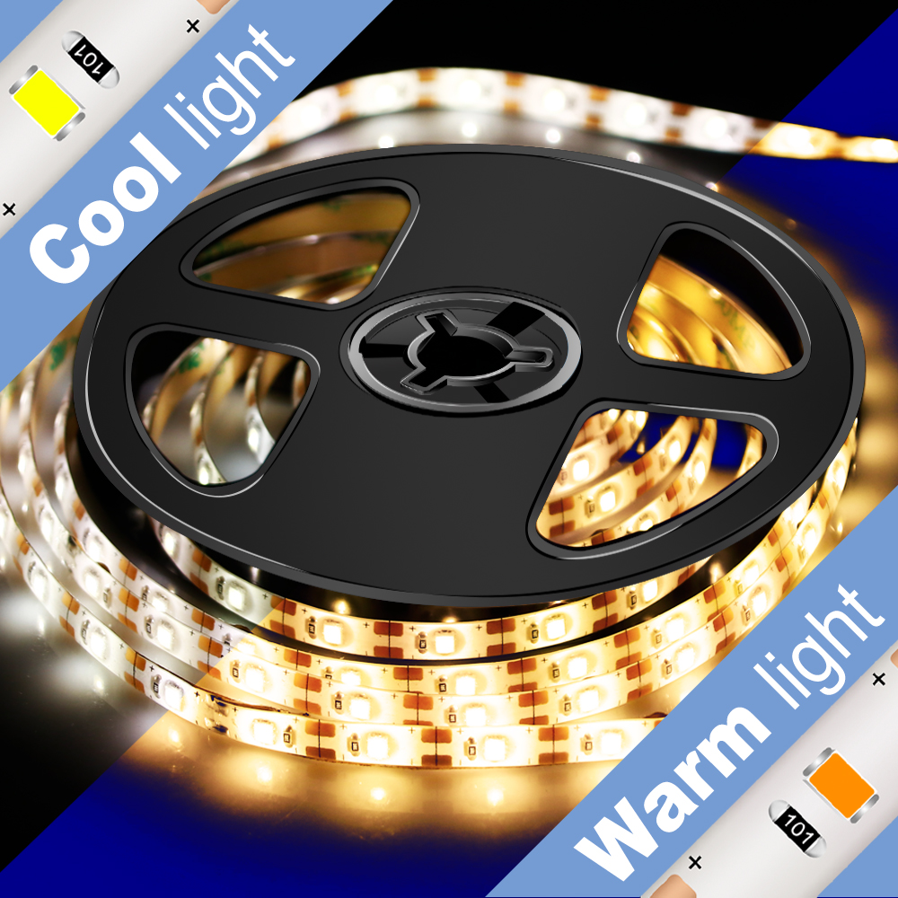 0 5M 1M 2M 3M 4M 5M Outdoors IP65 Waterproof LED Strip Light 2835 DC5V 60Leds M Bar Flexible Light Home Strip Light Lamp Indoor in LED Strips from Lights Lighting