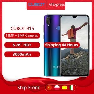 Cubot R15 Смартфон Android 9,0 пирог 6,26 ''19:9 Капля воды Экран MT6580P 2 ГБ + 16 Гб пальца ID двойные задние Камера 13MP 3000 мА/ч, Мобильные Телефоны Google Смартфоны