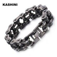 Mens Motorcycle Chain Bracelet Black Bracelet Punk Bike Chain Bracelet Stainless Steel Retro Motorcycle Bracelet Wholesale