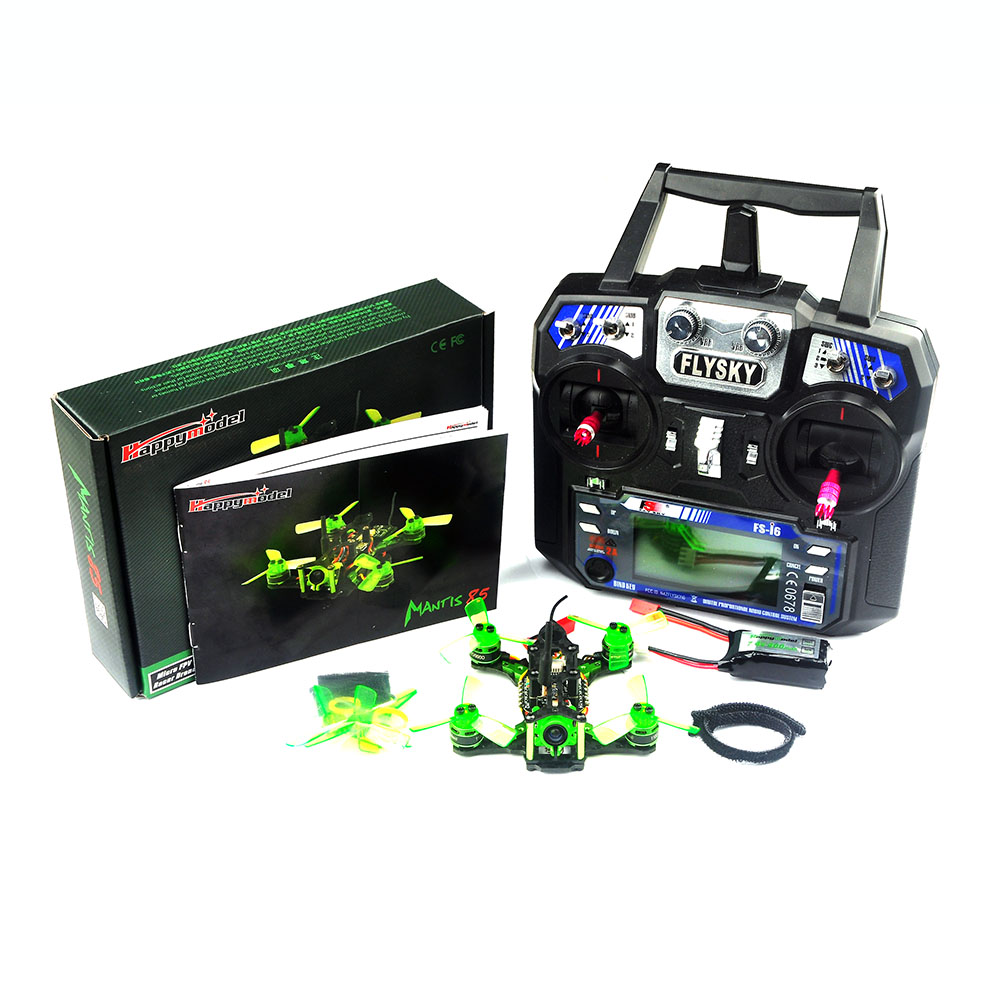 Happymodel Mantis85 85mm 2S Supers_F4 OSD 6A BLHELI_S 5.8G 25MW 600TVL Flysky I6 RTF FPV Racing Drone for RC Beginner Advanced