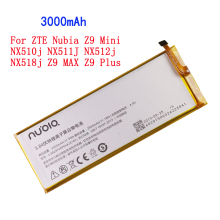3000mAh Li3829T44P6hA74140 For ZTE Nubia Z9 Mini NX510j NX511J NX512j NX518j Z9 MAX Z9 Plus Battery