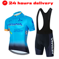2021 ASTANA Cycling Jersey MTB Mountain bike Clothing Men Short Set Ropa Ciclismo Bicycle Wear Clothes cycling dress men