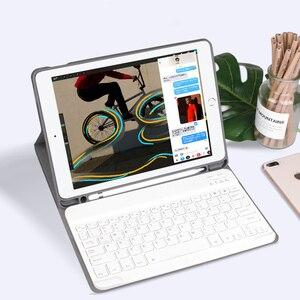 Image 1 - Coque de clavier 10.2 pouces, pour tablette iPad 7, 7e génération, coque 2019 pouces, 9.7, 2017, 2018, Bluetooth sans fil, pour iPad Air 3 2 Pro 10.5
