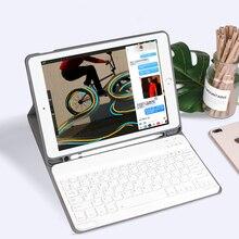 Чехол с клавиатурой для iPad 7, 7 е поколение, 10,2 дюйма, 2019, 9,7, 2017, 2018, Bluetooth, беспроводной чехол для планшета iPad Air 3 2 Pro, 10,5