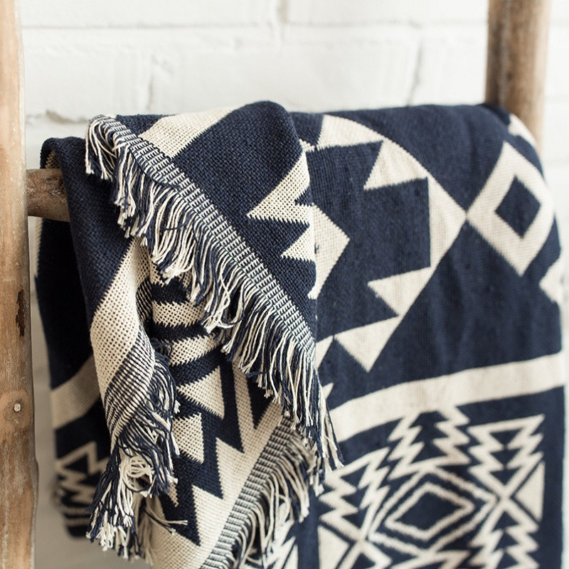 130*180cm Woven Blanket Warm Soft Cotton Sofa Throw Blanket Dust Cover Nordic