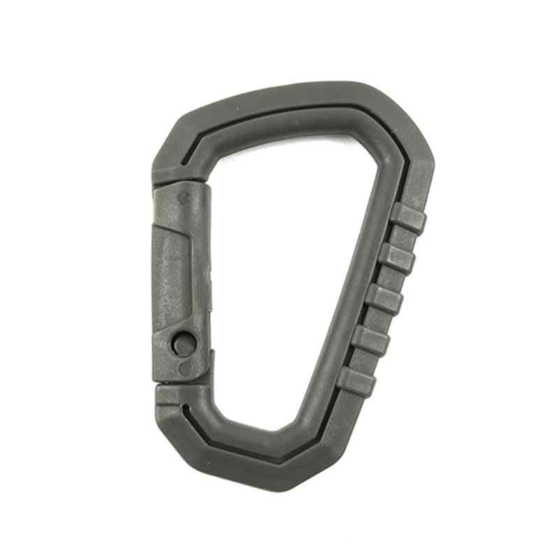 D-Ring Camp Snap Clip Hook Buckle Keychain Hiking Climbing Carabiner LY