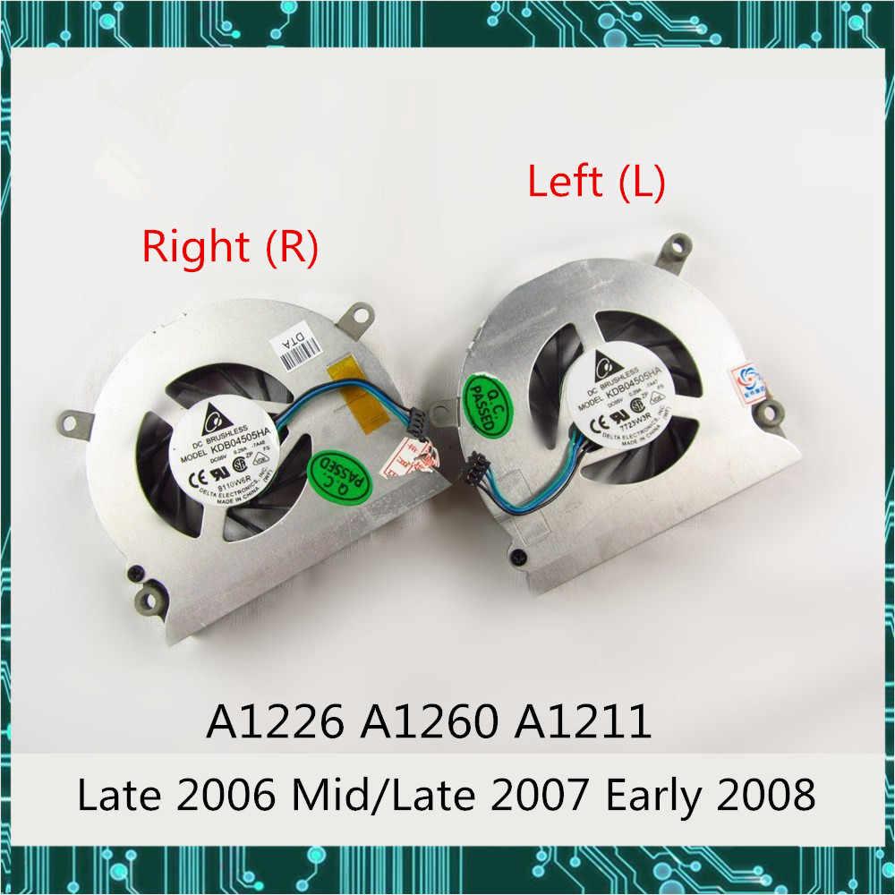 """Original para Macbook Pro 15,4 """"A1226 A1260 A1211 ventilador de refrigeración de CPU lado izquierdo y derecho a finales de 2006 Mediados/ A finales de 2007, principios de 2008"""