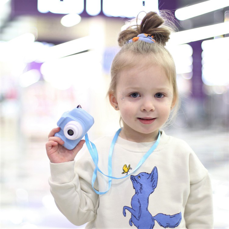 Mini Digital Camera Toys for Kids 2 Inch HD Screen Chargable Photography Props Cute Baby Child Birthday Gift Outdoor Game 2