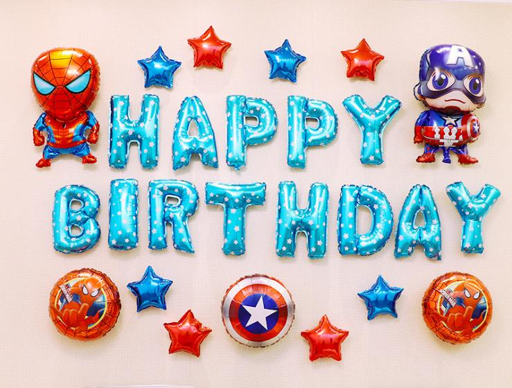 Party Super Hero Balloons  Foil Balloons  Theme Party Boy Kids Birthday Party Decor Favors Helium Globals