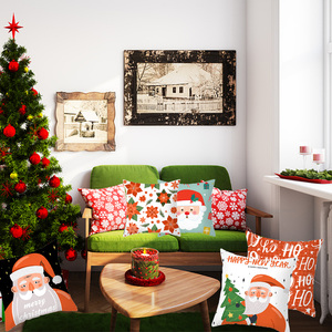 Image 2 - 1pcs 45cm Merry Christmas Cushion Cover Elk Santa Claus Decorating Christmas Ornaments Christmas 2020 Xmas Gifts New Year 2021