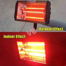 1000W Car Paint Curing Drying Lamp Car Body Infrared Paint Lamp Handheld Halogen Heater