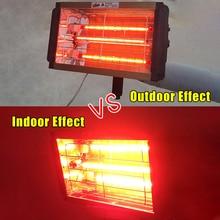 1000W Auto Verf Curing Drogen Lamp Auto Body Infrarood Verf Lamp Handheld Halogeen Heater Light Kortegolf Infrarood Lamp