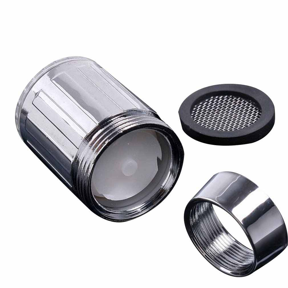 Батарея светящийся светодиодный водопроводный кран свет изменяющееся свечение датчик температуры душевая головка кухонные аэраторы для крана