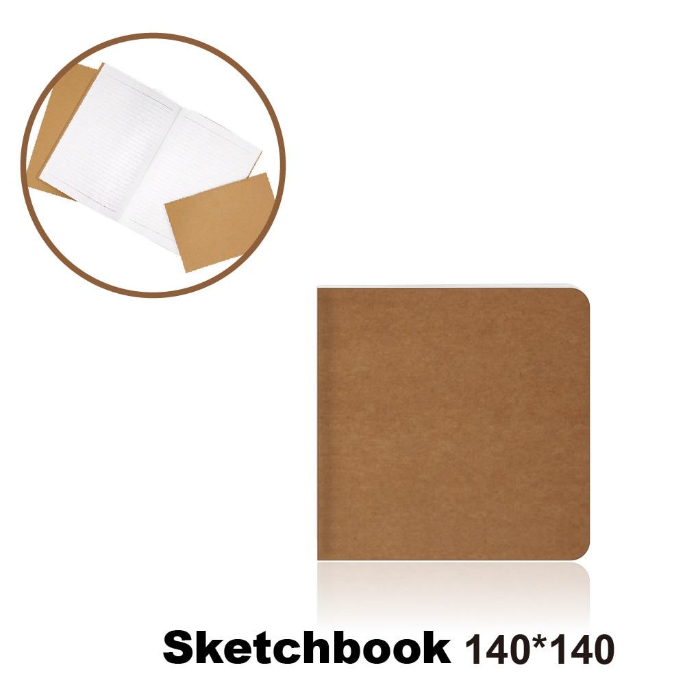 140*140 Cowhide Paper Sketchbook Bullet Journal Cute Notebook Paper Weekly Planner Accessories Stationery Diary Agenda Travel