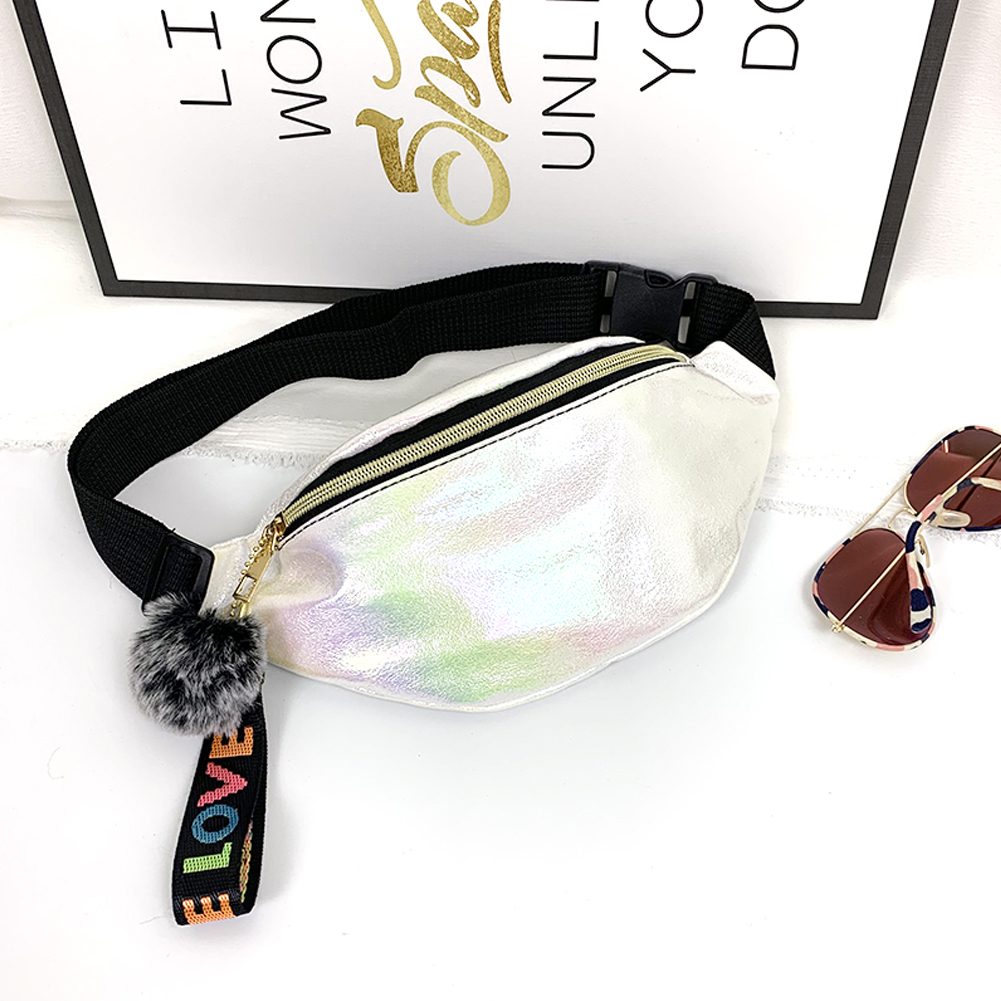 Fashion Glitter Sequins Waist Bag Fanny Pack Pouch Hip Purse Satchel Belt Bag Travel Hip Bum Bag Small Purse Chest Pouch Punk